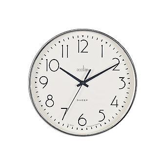 Acctim Earl Sweep Wall Clock Chrome 22567