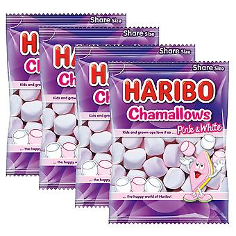4 x 140g Haribo White Pink Marshmellow BBQ Kids Sweets Snack Christmas Gift