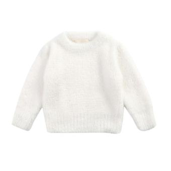 Baby Solid Sweater, Autumn-winter Toddler Warm Long Sleeve Tops