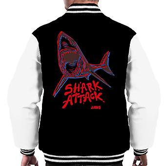 Käkar Neon Shark Attack Män's Varsity Jacket