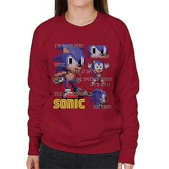 Sonic The Hedgehog Zu einfach schneller als die Geschwindigkeit von Sound Frauen's Sweatshirt