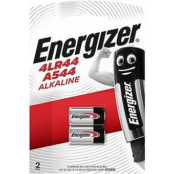 Energizer 4LR44/A544 6V Alkaline Batteries, 2 Pack