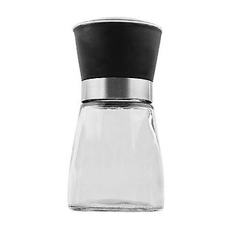 Glass Salt Or Pepper Grinder 12Cm 150Ml Adjustable Ceramic Core Miller