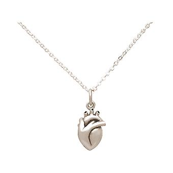 Necklace 3D Anatomical Heart Doctor, Researcher, Organic 925 Silver, Gilded, Rose