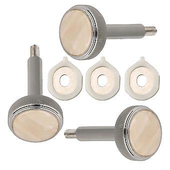 Níquel plateado Euphonium Válvula Botones de dedo y Guías de válvulas Pack de 3
