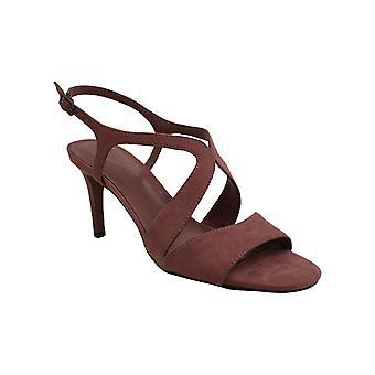 Bandolino Womens Tamar2 Suede Peep Toe Casual Slingback Sandals