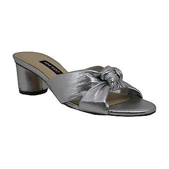 Nine West Womens Kayla Leather Open Toe Casual Slide Sandals