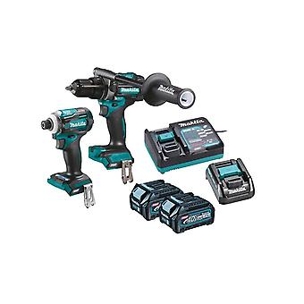 Makita DK0114G202 40Vmax XGT Combi Drill & Impact Driver Twin Pack 2 x 2.5Ah Batteries