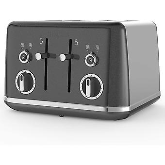 Breville Lustra 4-Slice Toaster with High Lift, Storm Grey [VTT853]