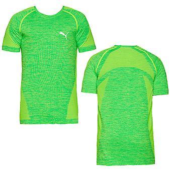 Puma Active Miesten evoKnit Paras Fitness Training T-paita Top Green 590633 15 A57E