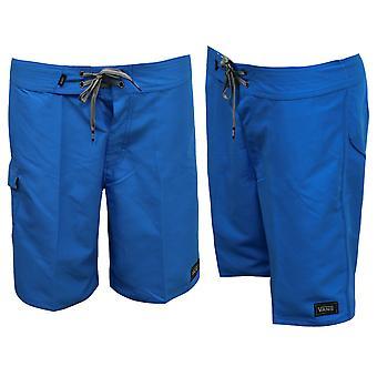 Vans Off The Wall OTW Blue Plain Mens Board Swim Swimming Shorts 5TN4B3 A16E
