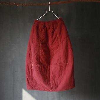 Autumn Winter Thicken Cotton Warm Vintage Retro Bud Skirts