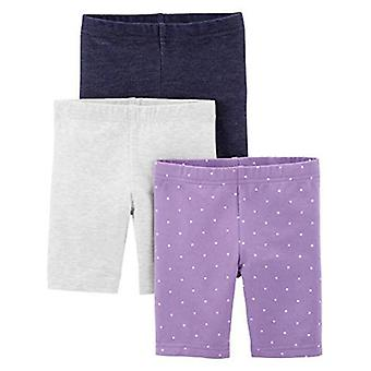 Simple Joys by Carter's Girls' 3-Pack Bike Shorts, Pink, Navy, 12 Months