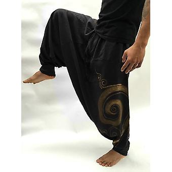 Casual Loose Baggy Pantalones, Drop Crotch Aladdin Ali Baba Yoga Wide Leg Harem