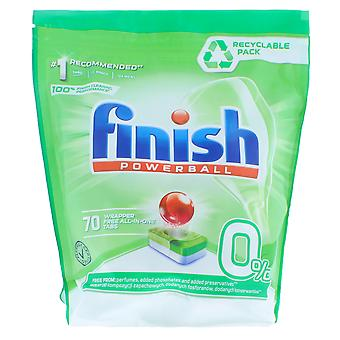 1x 70 Tabletten Finish Powerball All in One Wrapper Free Cleaning Tabs Dishwasher Machine