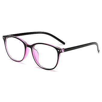 Ultrakevyt antisininen valo, Myopia-lasit, Pyöreä kehys ja naiset