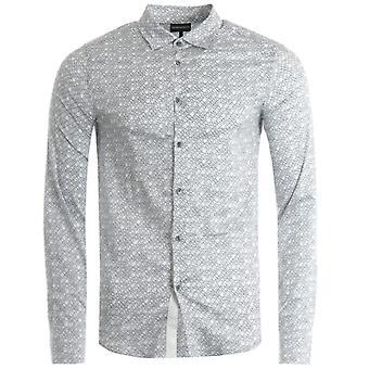Emporio Armani Micro Lettering Shirt - Black & White
