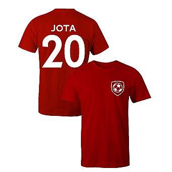 Diogo Jota 20 Klubowy styl piłkarz t-shirt
