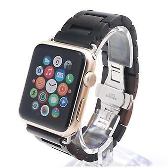 Muoti Pure Wood Ultra Thin Watch Strap Puunauha Hihna adapterit Ap