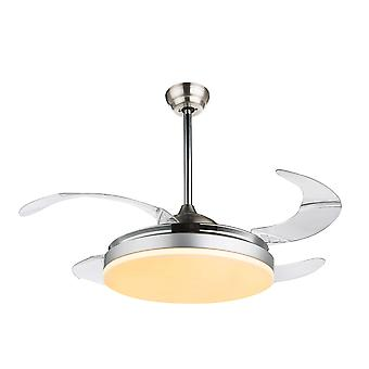 Ceiling fan Cabrera Nickel with LED and remote