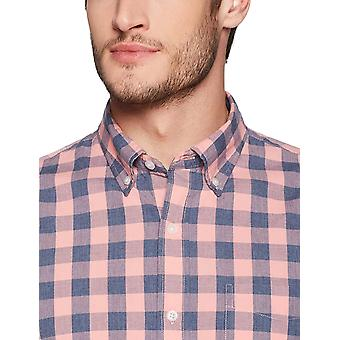 Goodthreads Men's Slim-Fit Langarm Gingham Plaid Poplin Shirt, rosa/blau,...