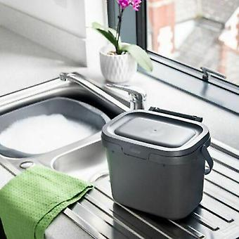 Cocina Compost Caddy 4.5L Desperdicio de Alimentos Bin Gris