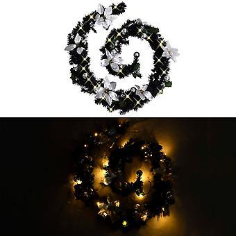 vidaXL عيد الميلاد مع أضواء LED الأسود 2.7 م PVC