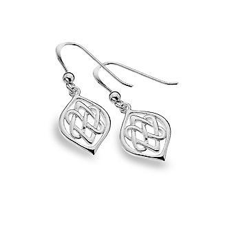 Sterling Silver Earrings - Celtic 2 Hearts Entwined