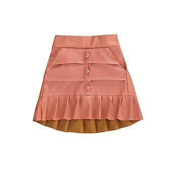 Baby Pleated Skirts, Elastic Waist Mini Skirts