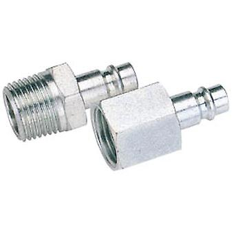 Draper 54416 Bulk 3/8 BSP Male Nut PCL Euro Coupling Adaptor (Sold Loose)