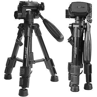 Q100 Mini-Reise-Tisch-Kamerastativ mit 3-Wege-Panel-/Neigekopf, 6,35 mm Schnellwechselplatte und
