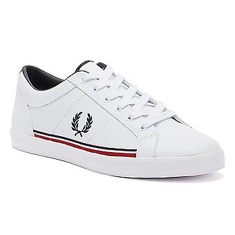 Fred Perry Baseline Perf Leather Mens White Trainers