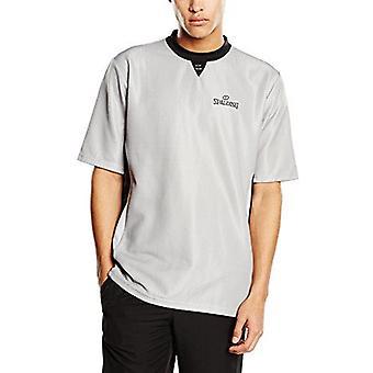 Spalding Basketball Referee Shirt High Quality 100% Polyester - Grey/Black