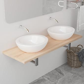 vidaXL meubles de bain brun de chêne 120×40×16,3 cm