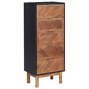 vidaXL Sideboard 45x32x115 cm Acacia Solid Wood and MDF