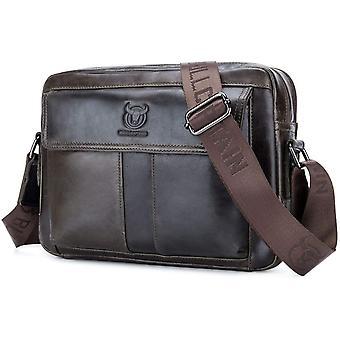 Gerui Genuine Leather Shoulder Messenger Bag for Men Horizontal Cross Body Shoulder Satchel Handbag