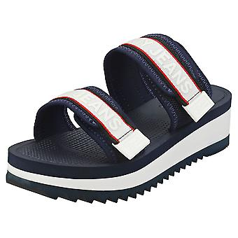 Tommy Jeans Color Pop Mule Womens Walking Sandals in Twilight Navy