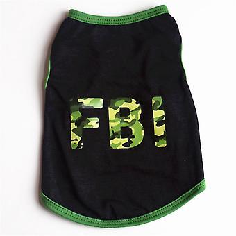 Dog cat clothes raglan summer alphabet cartoon vest two-leg pullover cotton