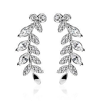 Nail earrings, clip earrings, feather-shaped earrings, cross, star, leaf, branch, Autiga Ref women's Ear Crawler. 4058433105751