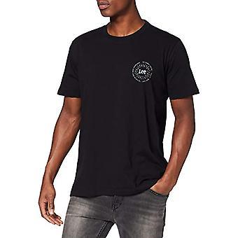 Lee Small Sunset Tee T-Shirt, Black 01, Large Men