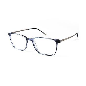 Moleskine MO1106 53 glänzend blau und Gunmetal optische Gläser