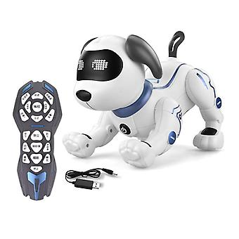 Electric Pets Toy RC Robot Dog Voice Remote Control Toys with Music Song Function|RC Animals
