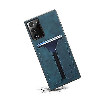 Custodia slot per carte portafoglio in pelle per samsung s10plus blu pc880