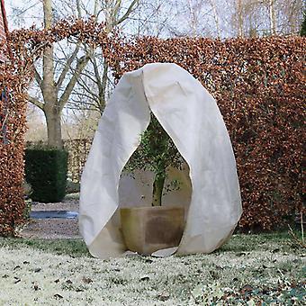 Natuur winter fleece met rits 70 g/m² beige 2×2,5 m