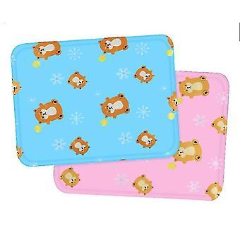 Medium rosa sommer katt mat matte er bite resistantdog kennel ismatte x487