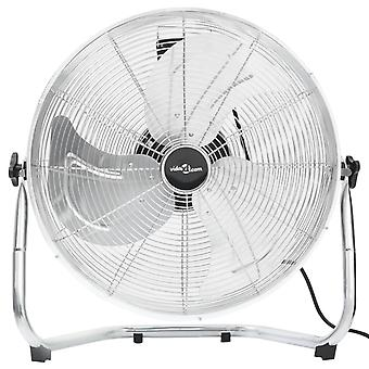 vidaXL ventilateur de sol 3 niveaux de vitesse 50 cm 120 W Chrome