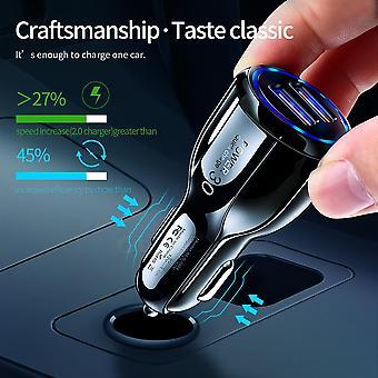 أولاف سيارة USB شاحن شحن سريع 3.0 2.0 شاحن الهاتف المحمول 2 منفذ USB شاحن سيارة سريعة لفون سامسونج اللوحي شاحن السيارة