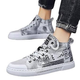 Men's Shoes Breathable Thin Section All-match High-top Casual Shoes