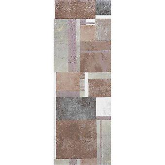 Galleria Modern Geometric 63764 5280 Runner Rugs In Salmon Pink