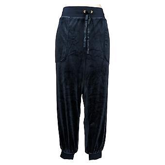 Chiunque pantaloni da donna X-Large Velour Jogger Blu A345306